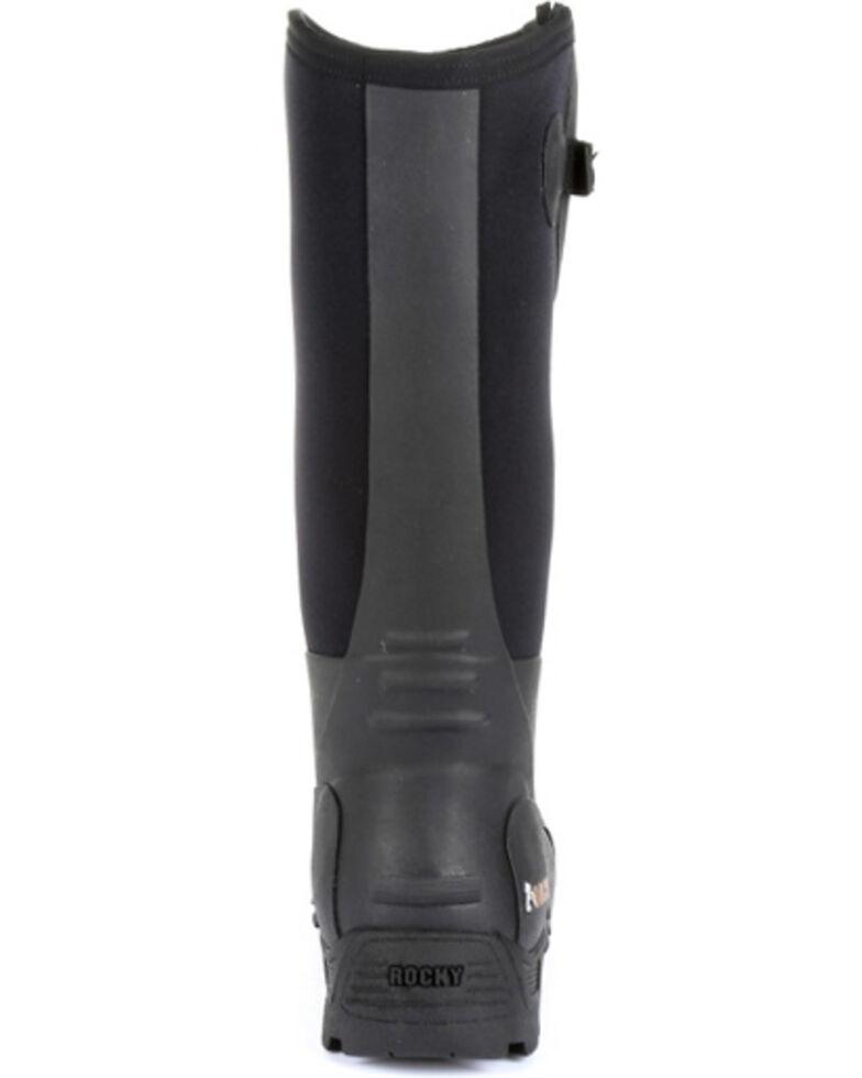 Rocky Men's Sport Pro Rubber Waterproof Work Boots - Steel Toe, Black, hi-res