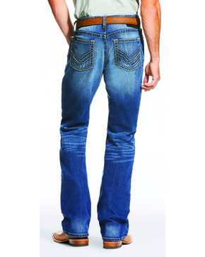 Ariat Men's Blue M4 Low Rise Jeans - Boot Cut , Blue, hi-res