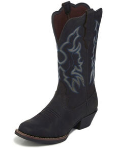 Justin Women's Brandy Western Boots - Square Toe, Brown, hi-res