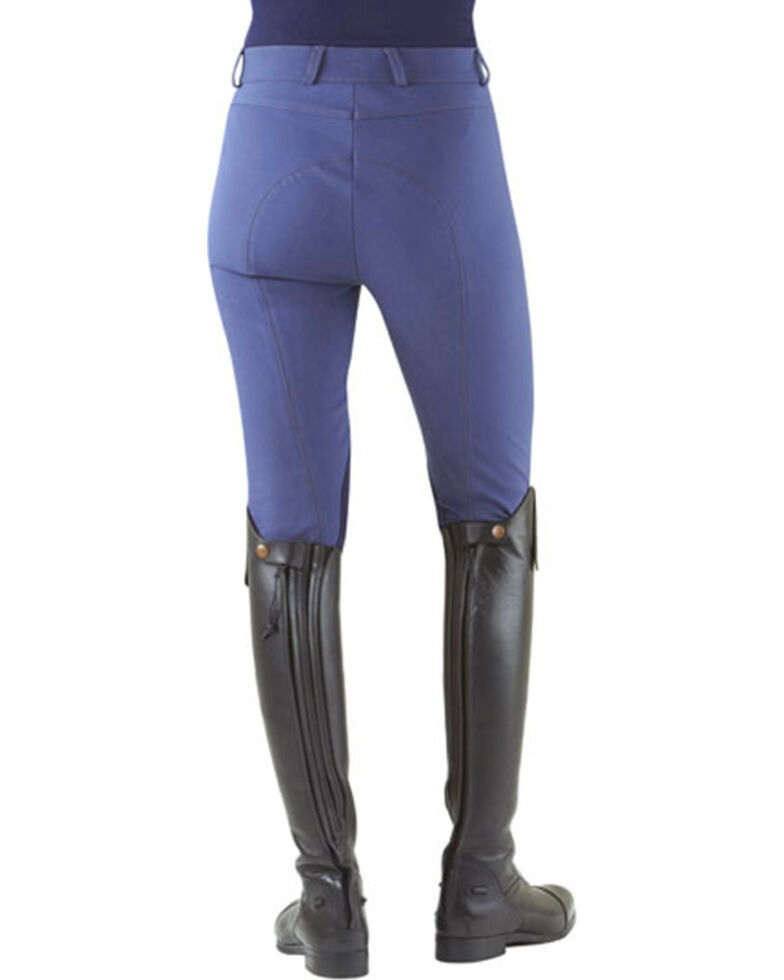 Ovation Women's Milano Knee Patch Breeches, Denim, hi-res