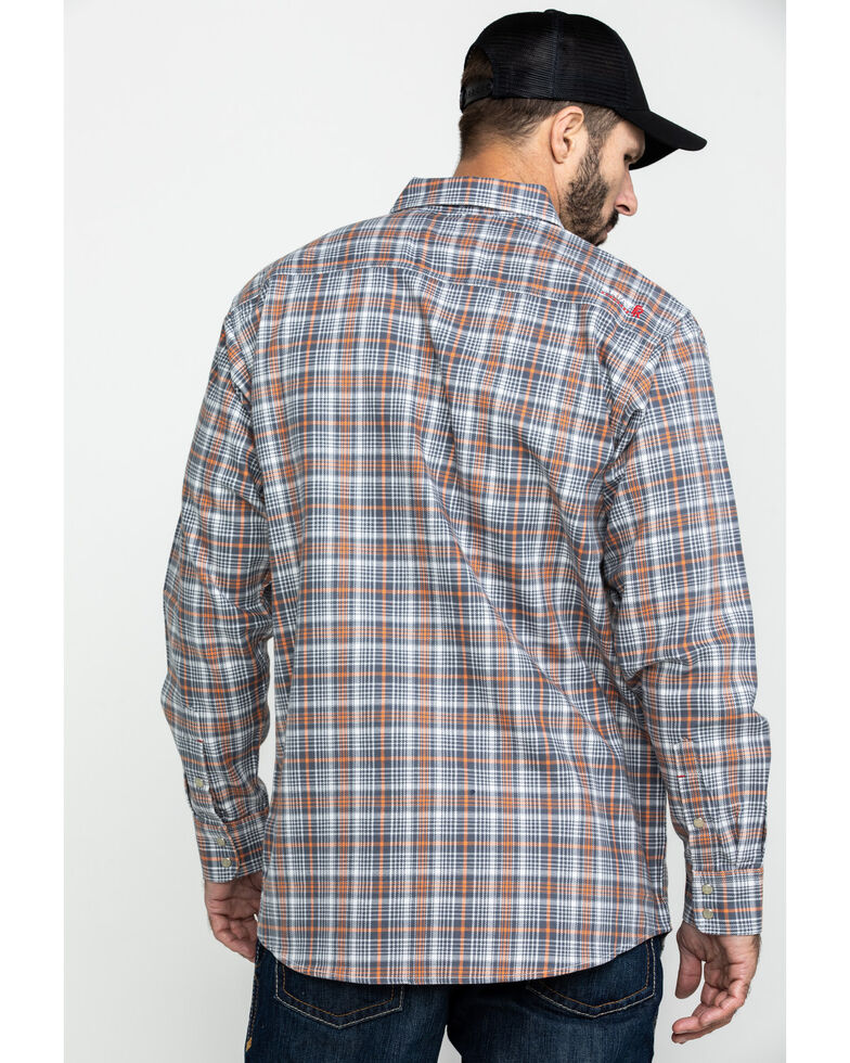 Ariat Men's Aimers FR Plaid Long Sleeve Work Shirt - Tall , White, hi-res