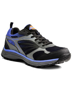 Dickies Men's Stride Athletic Work Shoes - Steel Toe, Blue, hi-res