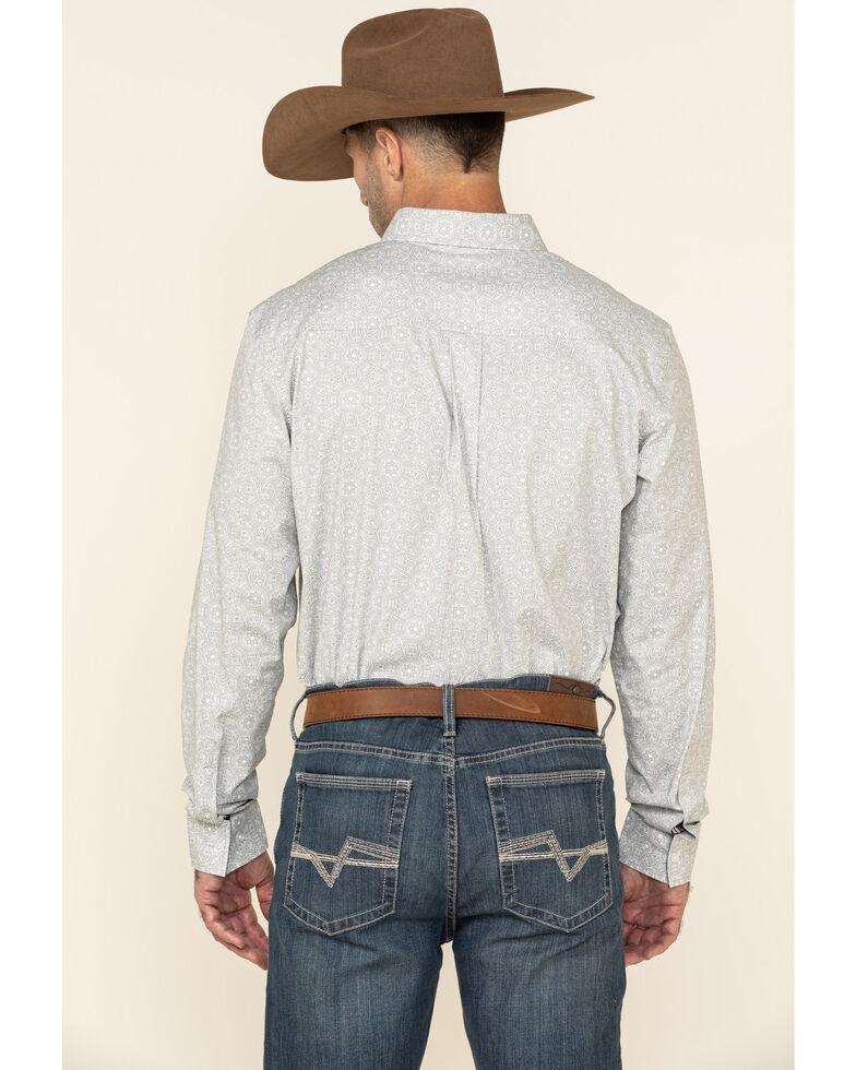 Cody James Men's Hemlock Medallion Print Long Sleeve Western Shirt , Grey, hi-res