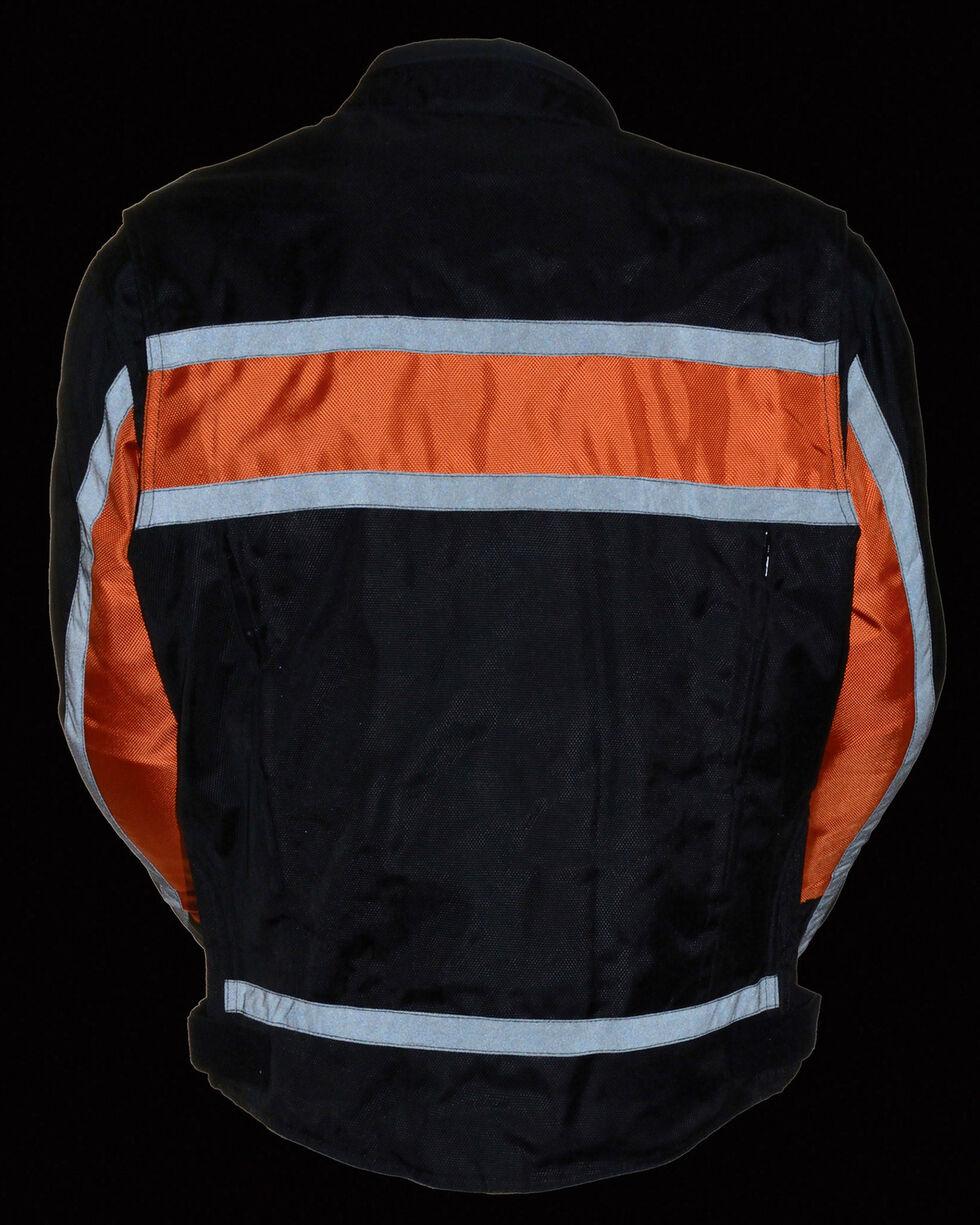 Milwaukee Leather Men's Reflective Stripe Racer Jacket - 4X, , hi-res