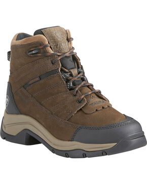 Ariat Women's Terrain Pro Waterproof Hiking Boots, Brown, hi-res