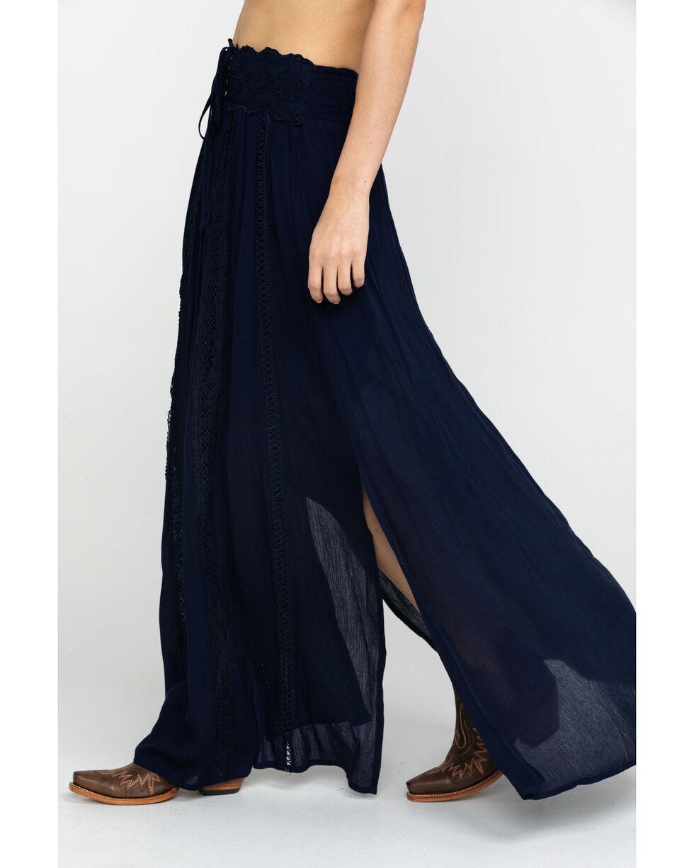 Shyanne Women's Navy Corset Maxi Skirt , Navy, hi-res