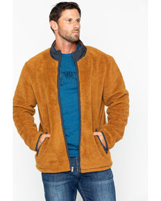 Cody James Men's Yellow Stone Fleece Zip-Up Jacket , Lt Brown, hi-res