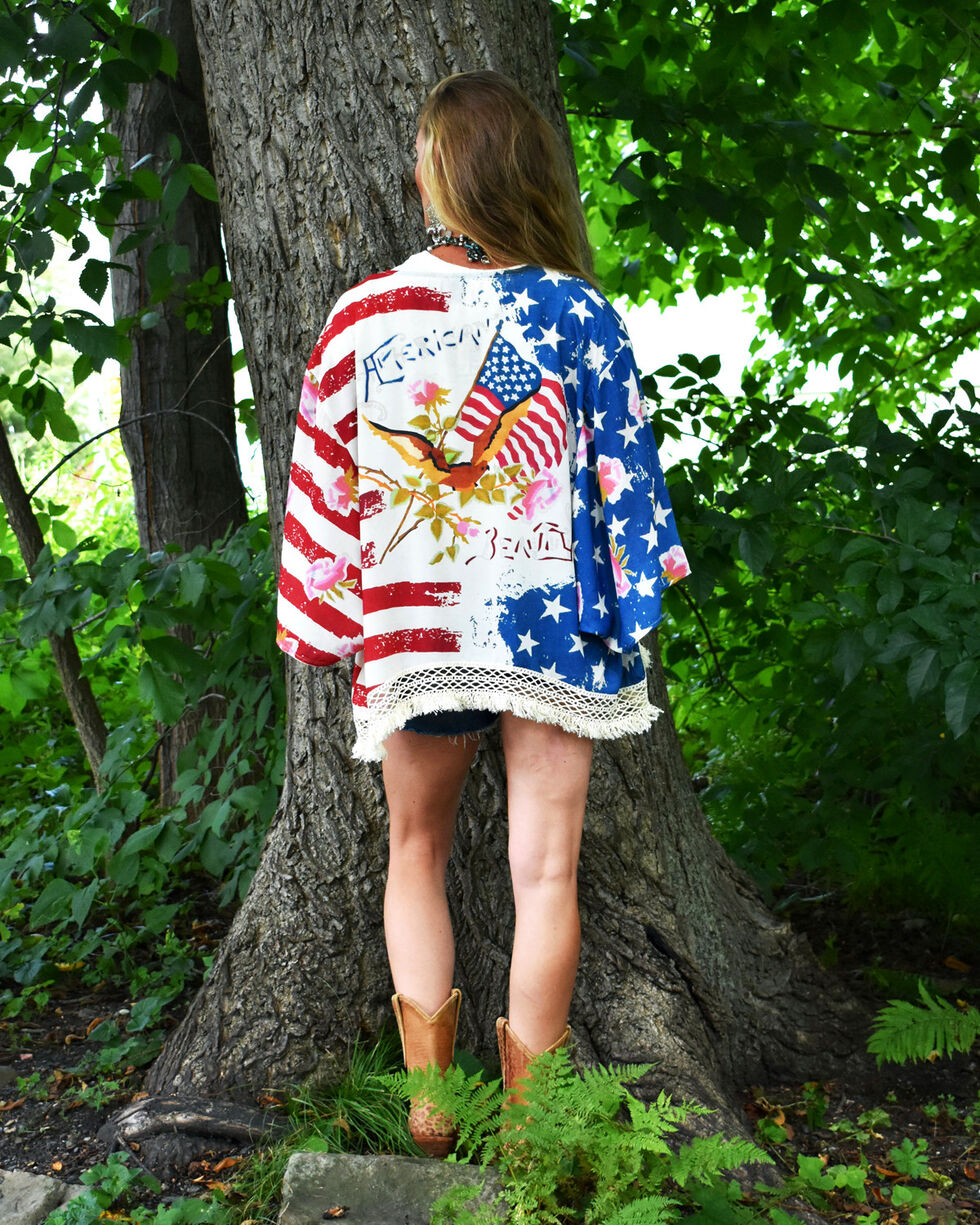 Tasha Polizzi Women's American Beauty Kimono , Multi, hi-res