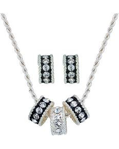 Montana Silversmiths Women's Tri-Eternity Jewelry Set, Silver, hi-res