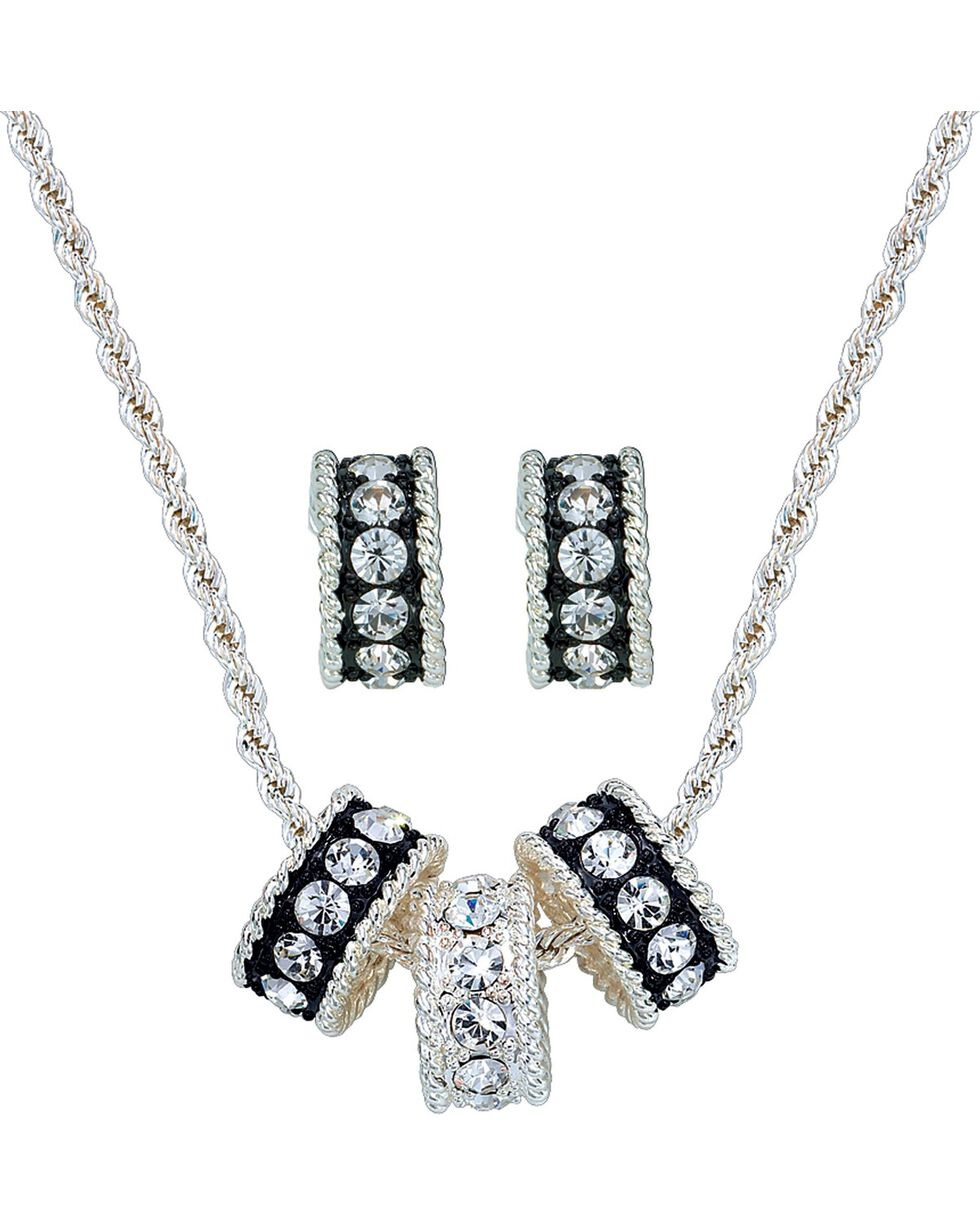Montana Silversmiths Women's Tri-Eternity Jewelry Set, Silver, hi-res