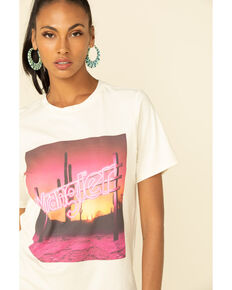 Wrangler Women's Sunset Neon Sign Graphic Tee , Ivory, hi-res