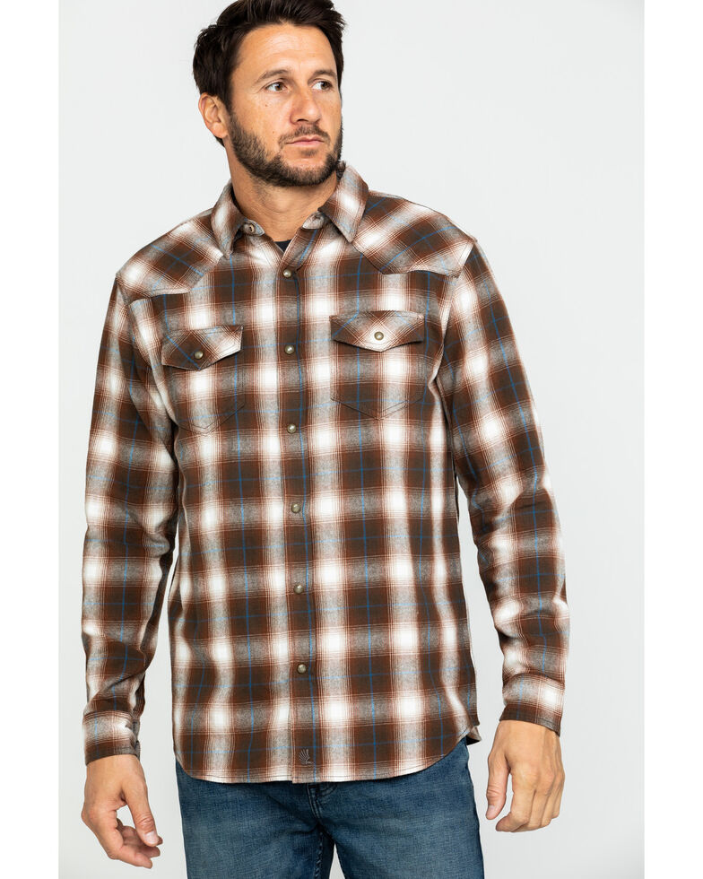 Cody James Men's Mud Pit Plaid Long Sleeve Western Flannel Shirt , , hi-res