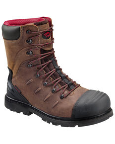 "Avenger Men's 8"" Waterproof Work Boots - Composite Toe, Brown, hi-res"