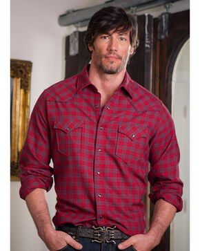 Ryan Michael Men's Red Mountain Jaspe Plaid Shirt , Red, hi-res