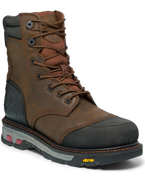 Justin Men's Warhawk Waterproof Work Boots, Tan, hi-res