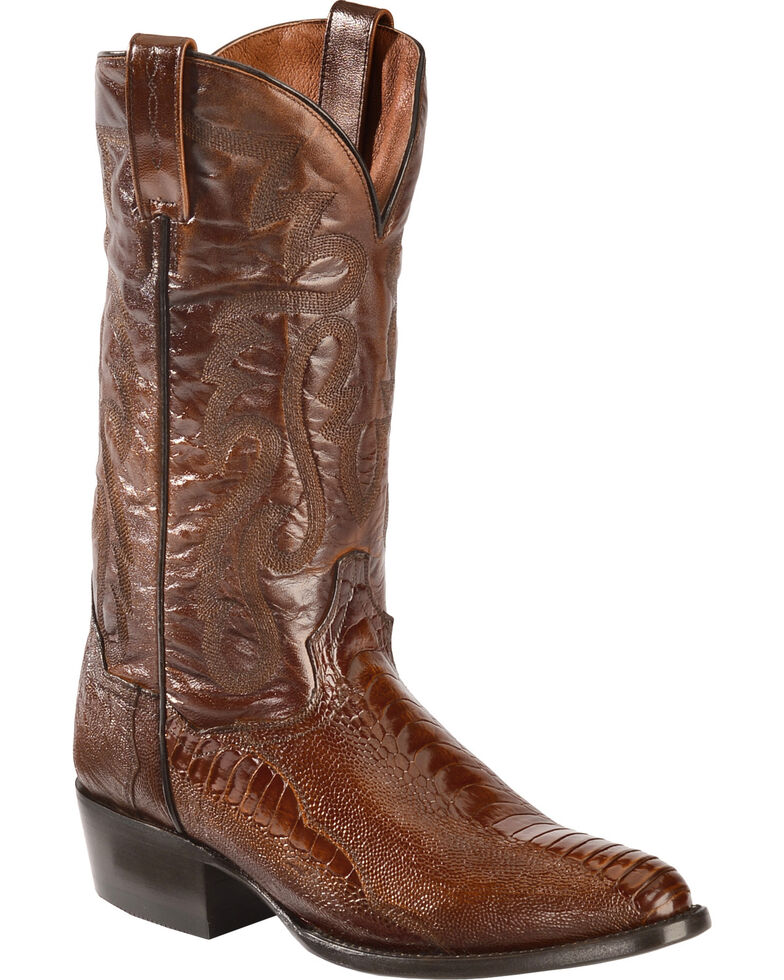 Dan Post Men's Bellevue Ostrich Leg Exotic Boots, Antique Tan, hi-res