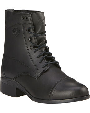 Ariat Women's Scout Paddock Lace Boots, Black, hi-res
