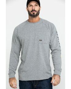 Ariat Men's Grey Rebar Cotton Strong Graphic Long Sleeve Work Shirt , Heather Grey, hi-res