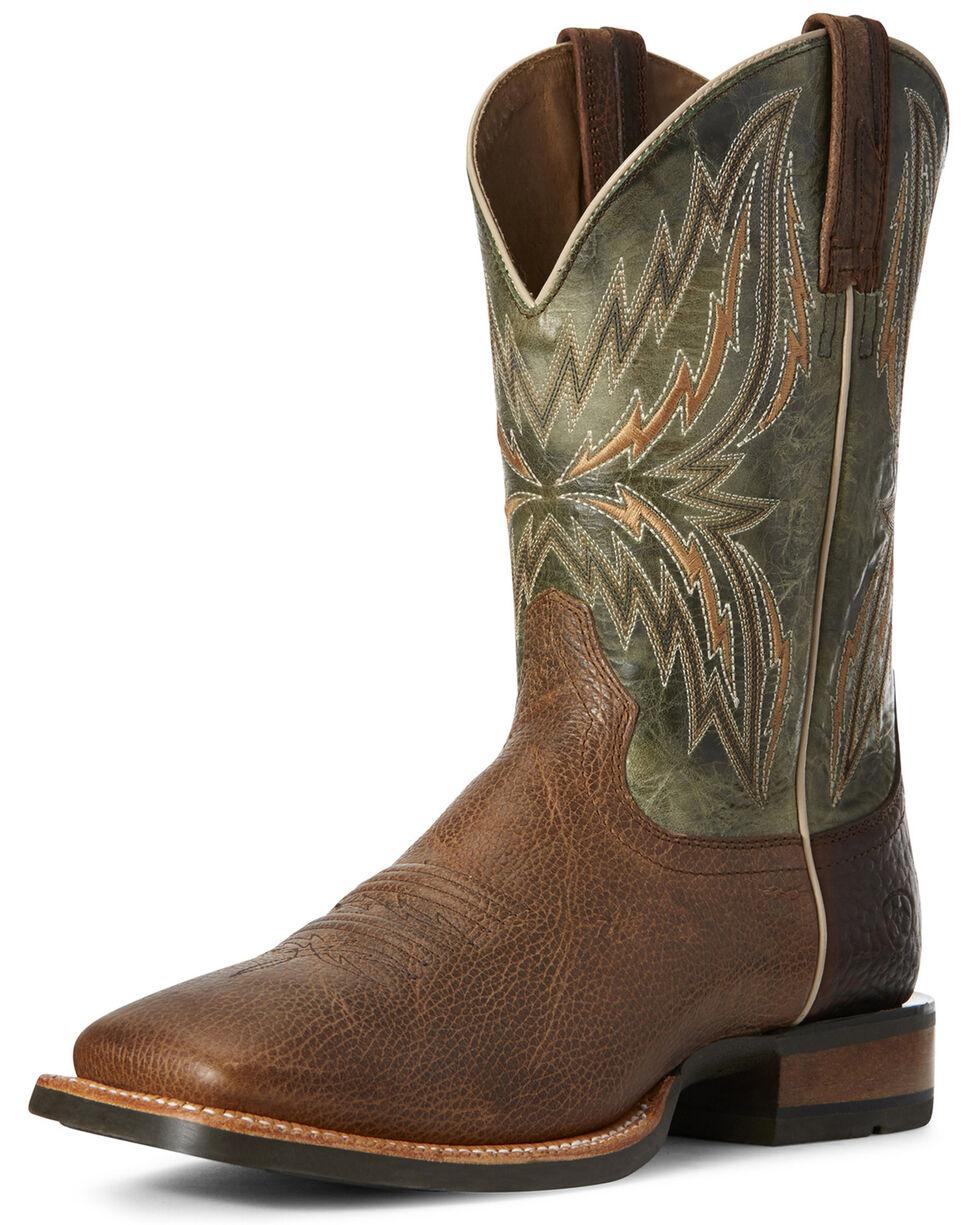 Ariat Men's Arena Rebound Western Boots - Wide Square Toe, Brown, hi-res