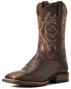 Ariat Men's Relentless High Call Rustic Western Boots - Wide Square Toe, Brown, hi-res