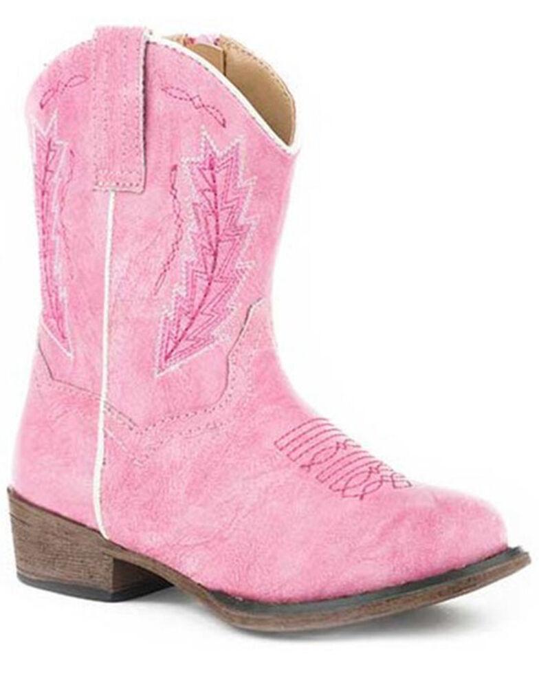 Roper Toddler Girls' Taylor Western Boots - Round Toe, Pink, hi-res