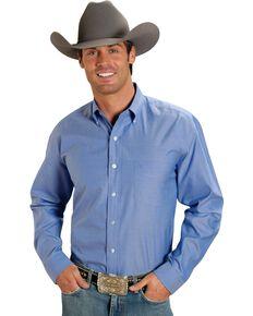 Stetson Solid Button Oxford Shirt, Blue, hi-res
