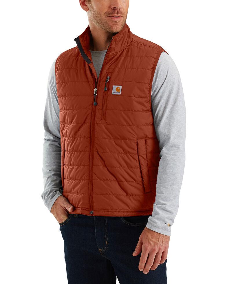 Carhartt Men's Gilliam Work Vest, Red/brown, hi-res