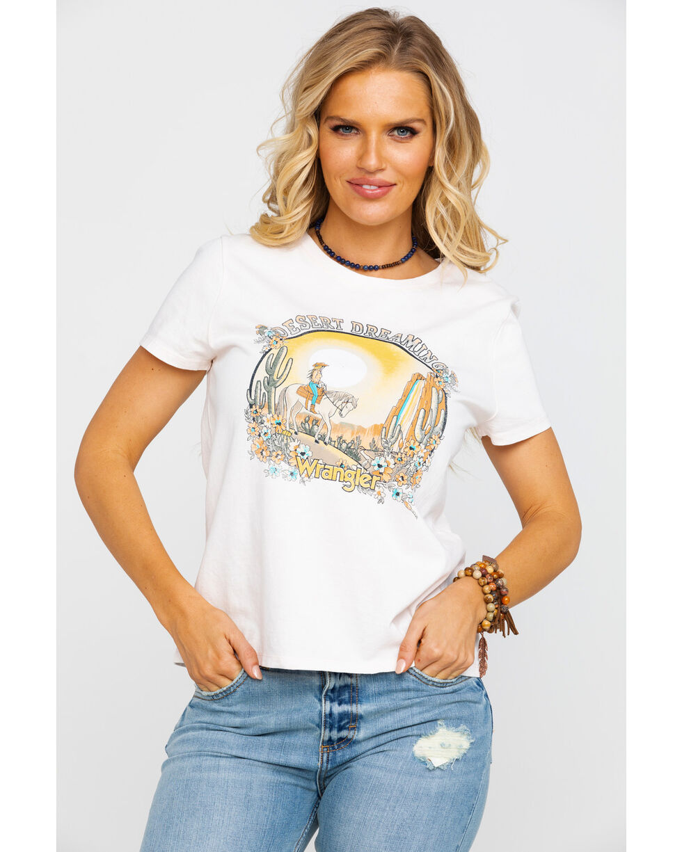 Wrangler Women's Modern Blush Desert Dreaming Graphic T-Shirt , Peach, hi-res