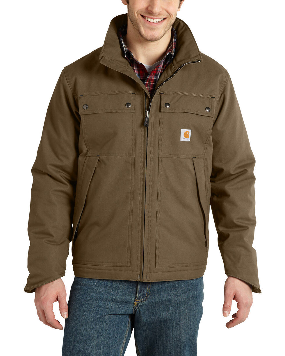 Carhartt Men's Quick Duck Rain Defender Traditional Jacket - Big , Brown, hi-res