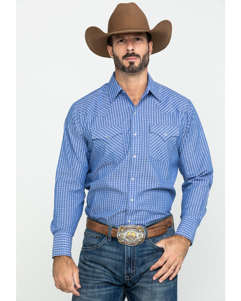 Ely Cattleman Men's Assorted Multi Check Plaid Long Sleeve Western Shirt , Multi, hi-res