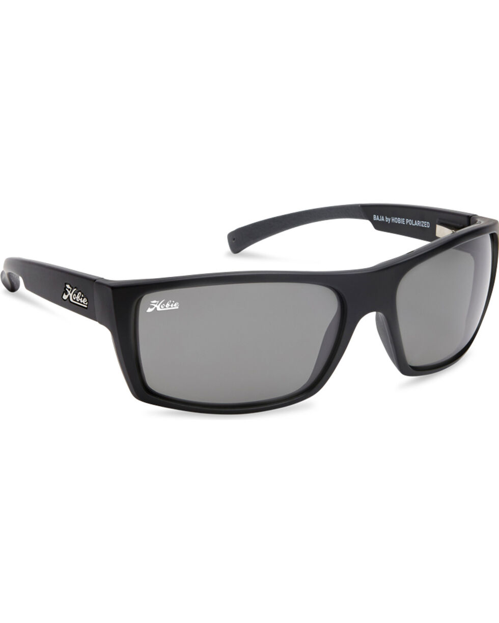 Hobie Men's Satin Black Baja Polarized Sunglasses  , Black, hi-res