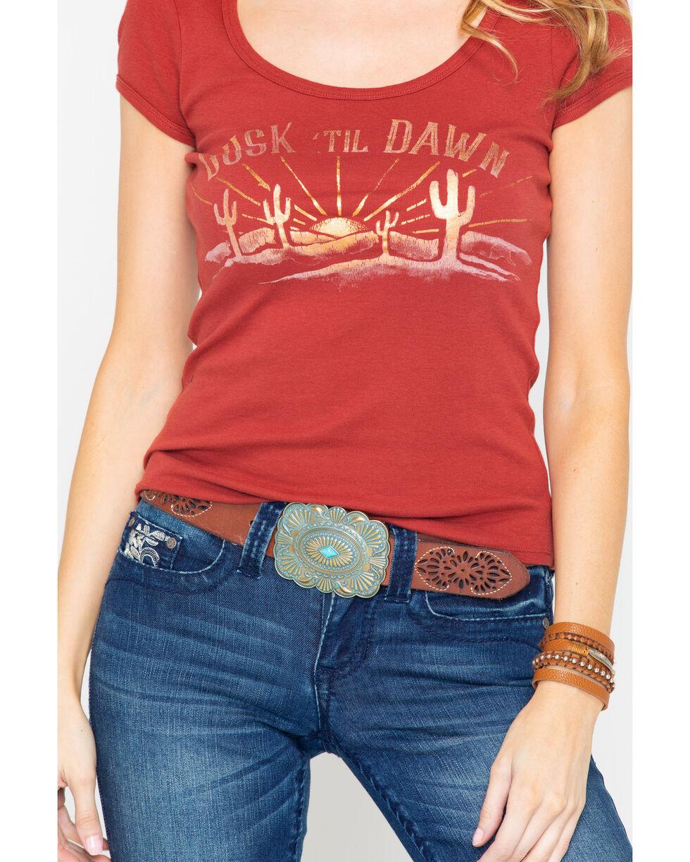 Shyanne Women's Dusk Til Dawn Foil Graphic Tee , Rust Copper, hi-res
