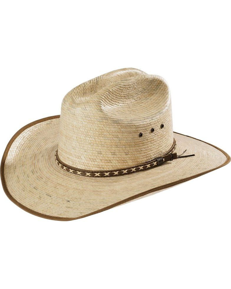 Resistol Youth Brush Hog Palm Hat, Tan, hi-res