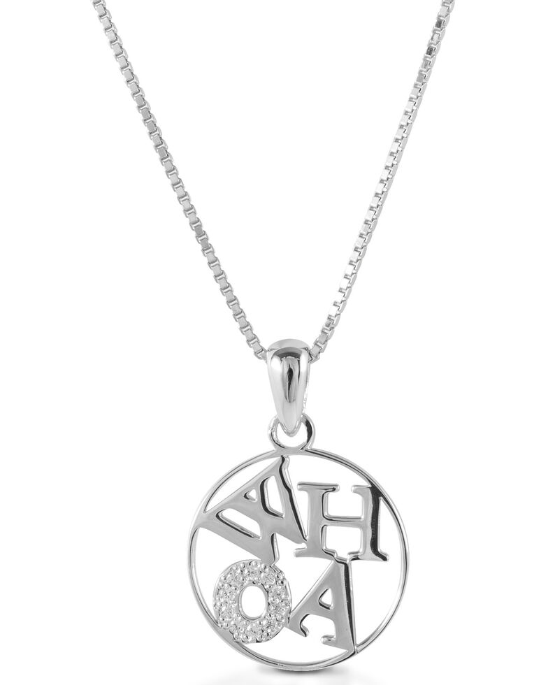 Kelly Herd Women's Whoa Pendant Necklace, Silver, hi-res