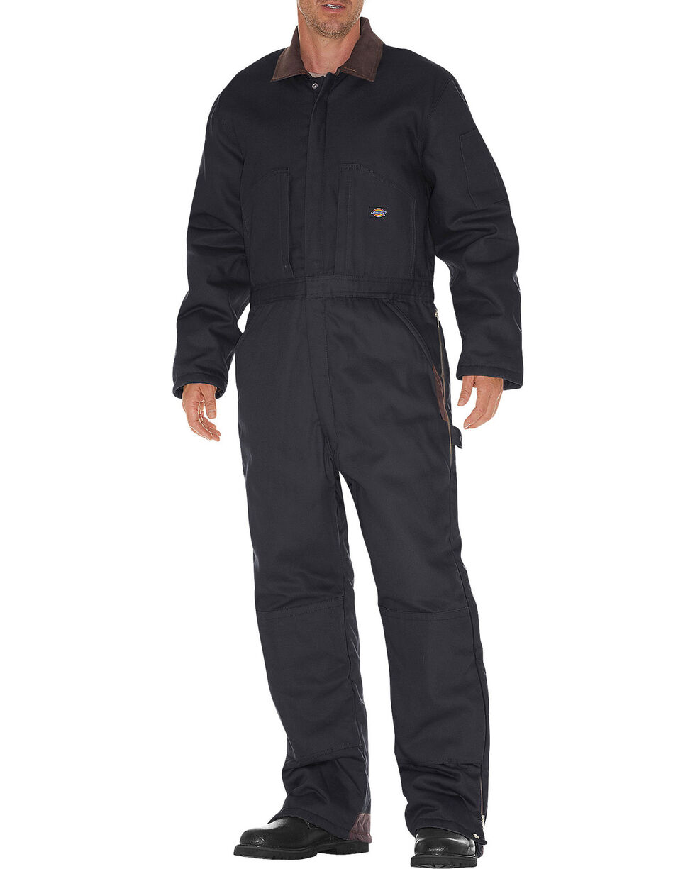 Dickies Insulated Coveralls, Black, hi-res