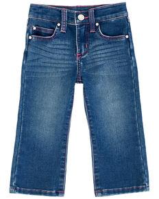 Wrangler Infant Girls' Preschool Dark Bootcut Jeans, Blue, hi-res