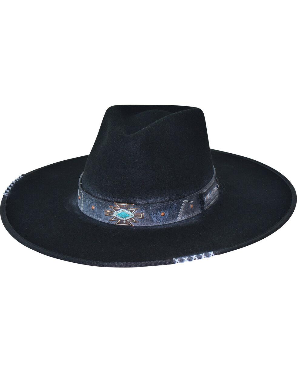 Bullhide Messed Up Wool Cowboy Hat , Black, hi-res