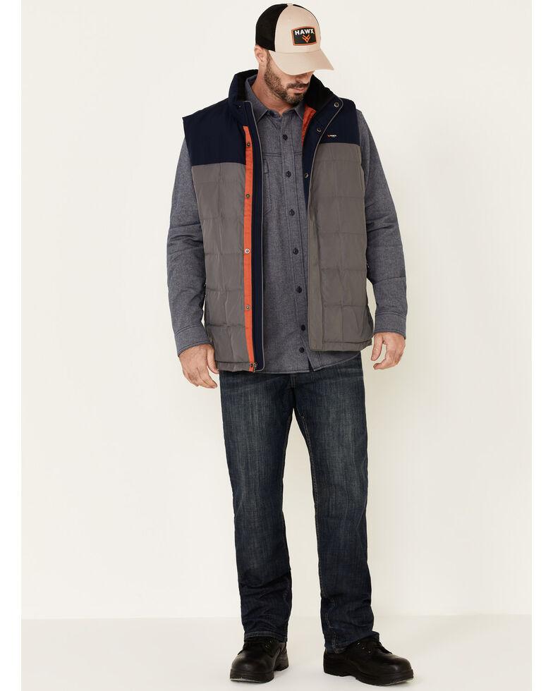 Hawx Men's Grey Color Blocked Whistler Insulated Work Vest , Grey, hi-res