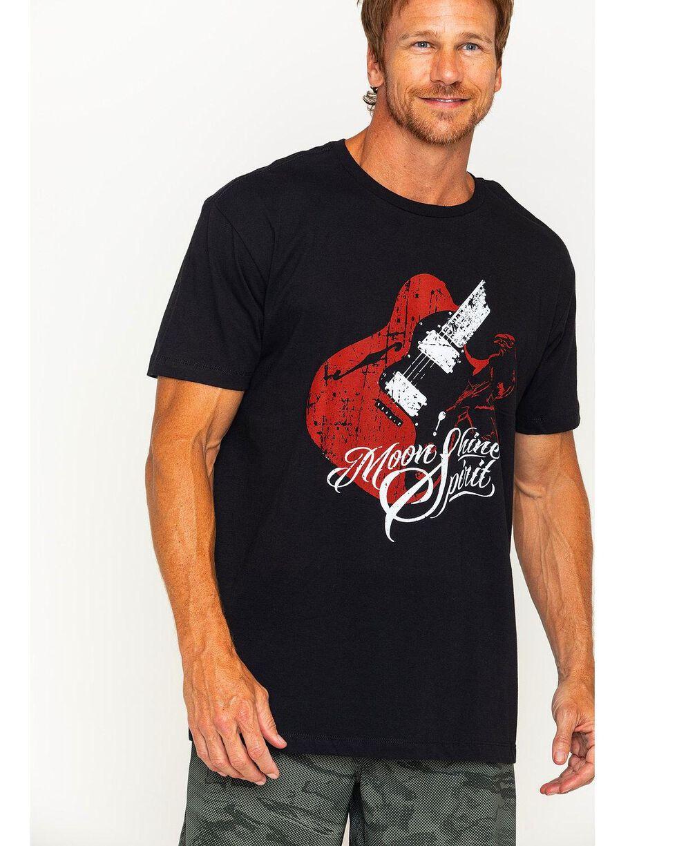Moonshine Spirit Men's Guitar Print Short Sleeve T-Shirt, Black, hi-res