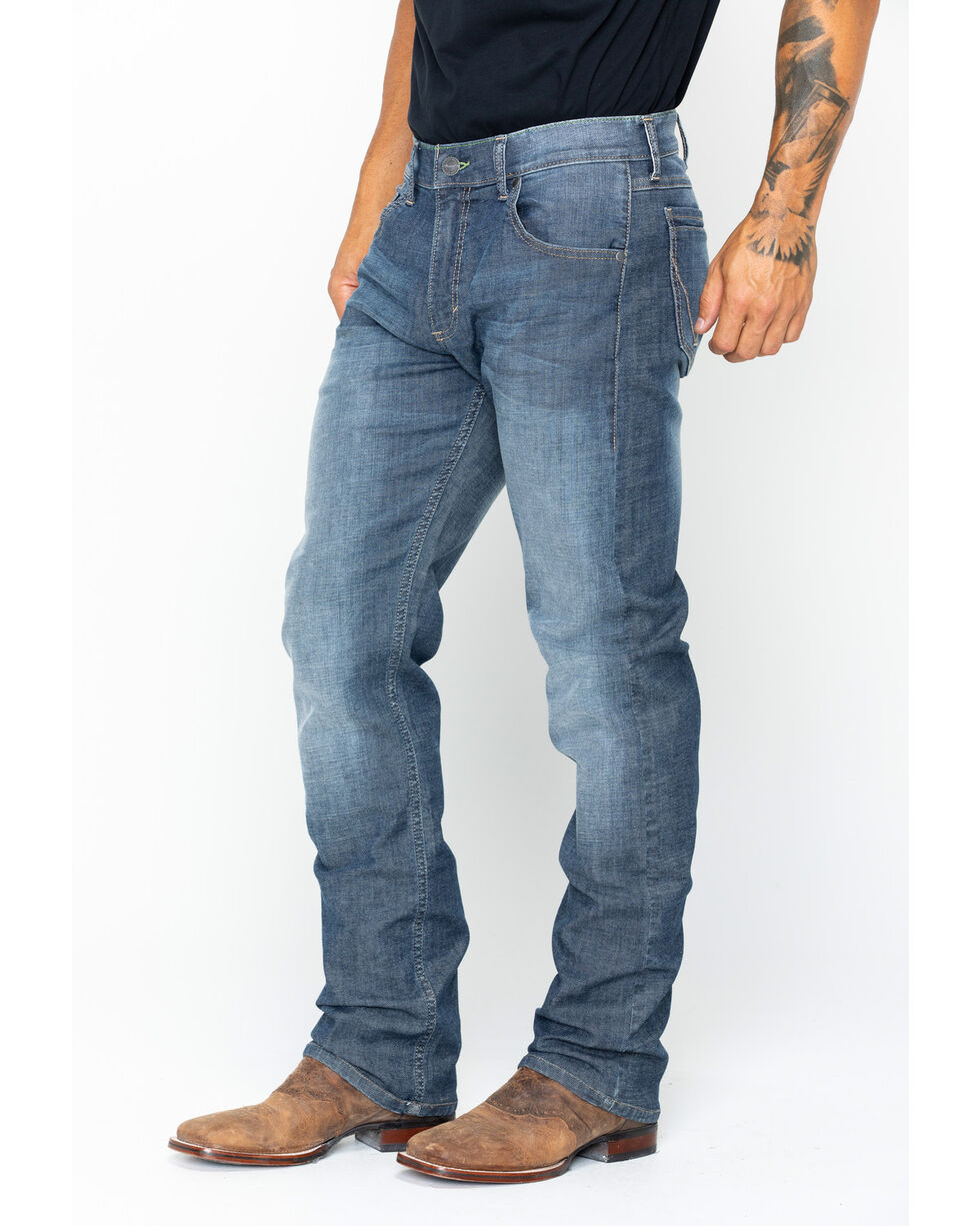 Wrangler Men's Retro Slim Fit Straight Leg Jeans, Indigo, hi-res