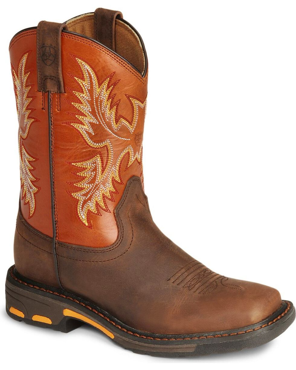 Ariat Kid's Workhog Work Boots, Earth, hi-res