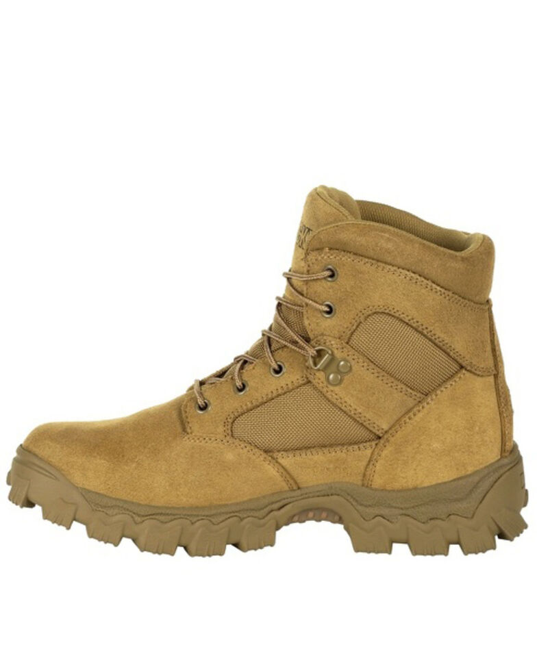 """Rocky Men's 6"""" Alpha Force Duty Boots - Soft Toe, Taupe, hi-res"""