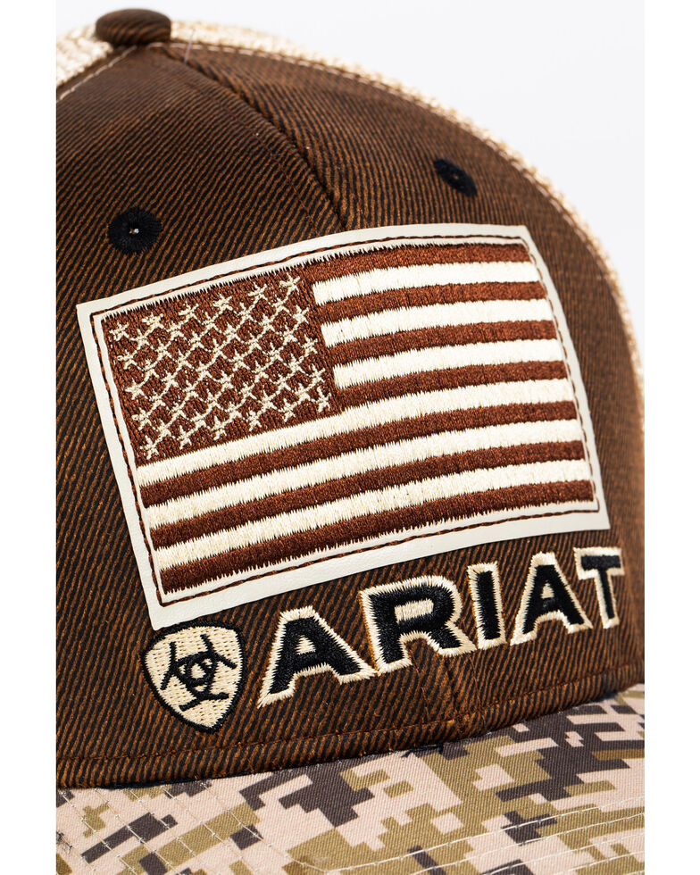 c8fd4420d2c82 Ariat Men s Digital Camo Patriotic Baseball Cap