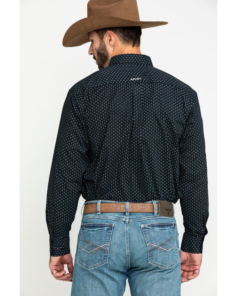 Ariat Men's Bradley Logo Geo Print Long Sleeve Western Shirt - Big , Multi, hi-res