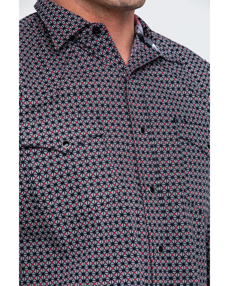 Roper Men's Black Small Geo Long Sleeve Western Shirt , Black, hi-res