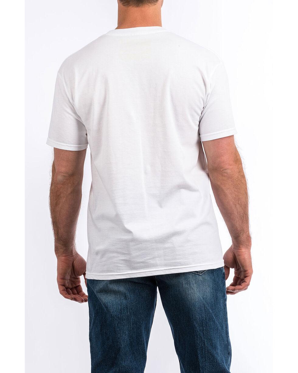 Cinch Men's Large Stripe Graphic T-Shirt , White, hi-res