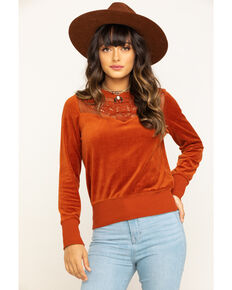 Shyanne Life Women's Rust Lace Top, Rust Copper, hi-res