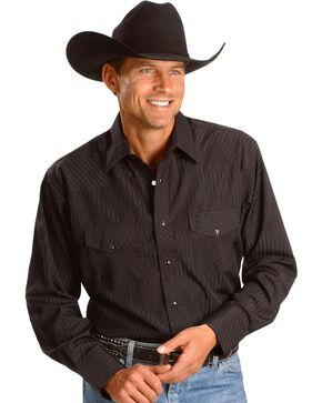 Wrangler Western Shirt - Big & Tall, Black, hi-res