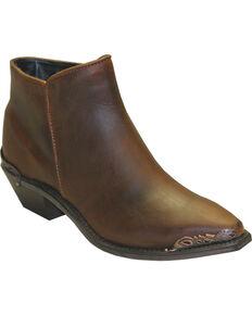 Sage Women's Demi Zippered Western Booties, Brown, hi-res