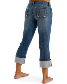 Stetson Women's Distressed Capris, Denim, hi-res